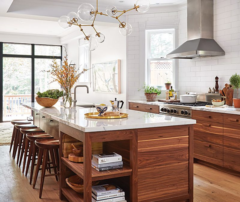 Trends we love: natural wood cabinets