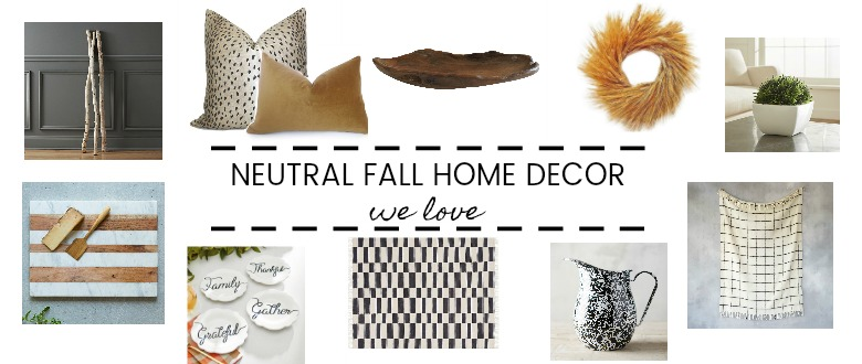 Cozy up your home with neutral Fall decor