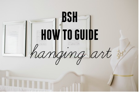 Guide to hanging artwork