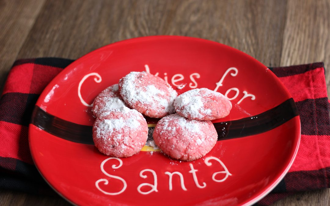 Day 4: Cherry-Chocolate Crinkle Cookies
